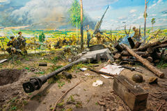 Diorama depicting the defeat of Nazi troops in Belarus. Belarusian Museum Royalty Free Stock Photo