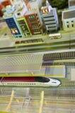 Diorama do trem de bala foto de stock royalty free
