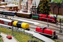 Diorama modèle de train Photographie stock libre de droits