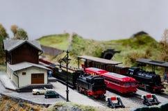 Diorama modelo del tren Fotografía de archivo