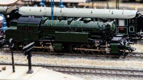 Diorama modelo del tren Fotos de archivo