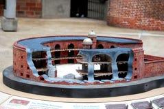 Diorama na ilha dos reguladores imagens de stock