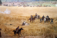 Diorama painting of the Battlefield in Gettysburg Pennsylvania USA Stock Images