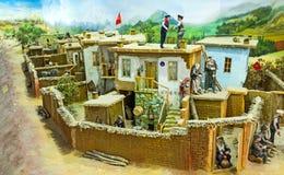 The diorama of the rural life Stock Photos
