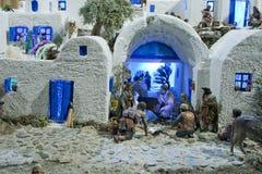 Diorama Santorini Bethlehem lizenzfreie stockfotografie