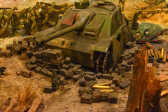 Diorama Storming the Reichstag royalty free stock photography