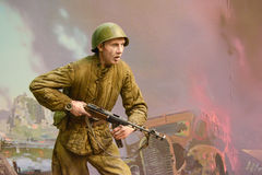 Diorama Storming the Reichstag stock photo