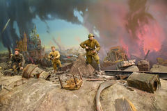 Diorama Storming the Reichstag stock images