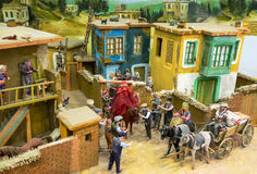 The diorama of the Turkish vedding in village Royalty Free Stock Image