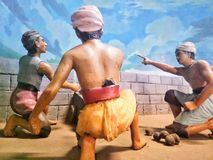Dioramas, Museum Soldiers Of Indonesia. One of the dioramas which is the basis of traditional Indonesia is conducting a war strategy. 12/8/18, Indonesian royalty free stock images
