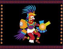 Dios azteca stock de ilustración