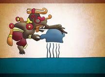 Dios azteca maya del agua de lluvia nombró Chac libre illustration