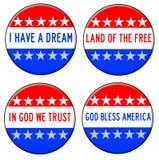 Dios bendice América Fotos de archivo