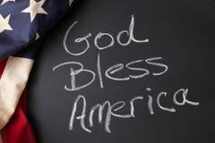Dios bendice la muestra de América Imágenes de archivo libres de regalías