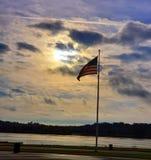 Dios bendice la salida del sol de América fotografía de archivo