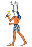 Dios de Egipto antiguo - Horus Fotografía de archivo libre de regalías