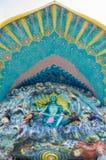 Dios de la escultura de la mitología en la entrada Foto de archivo libre de regalías