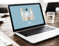 Dios de la iglesia cree a Jesus Pray Concept Imagen de archivo