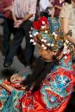 Dios de la prosperidad durante Año Nuevo chino Imágenes de archivo libres de regalías