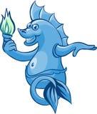 Dios del agua dulce stock de ilustración