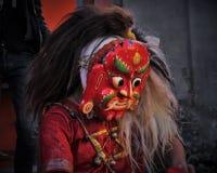 Dios del demonio de Lakhey Newari Fotografía de archivo libre de regalías