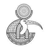 Dios del vector de Egipto antiguo Fotografía de archivo