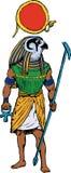 Dios egipcio antiguo Rah Imagen de archivo