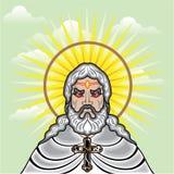 Dios enojado ilustración del vector