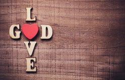 Dios es amor Fotografía de archivo libre de regalías