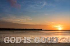 Dios es buena laguna Imagenes de archivo