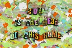 Dios es cabeza de este hogar casero Fotos de archivo libres de regalías