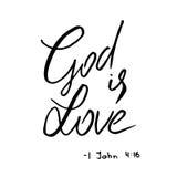Dios es cita del amor deletreado libre illustration