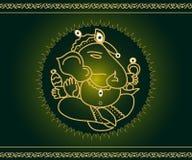 Dios Ganesha ilustración del vector