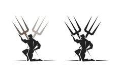 Dios griego Poseidon ilustración del vector