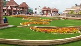 Dios hindú con diseños florales Imagenes de archivo