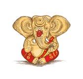 Dios hindú Ganesha - ejemplo del bosquejo del vector Foto de archivo libre de regalías
