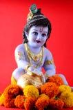Dios hindú Krishna Foto de archivo
