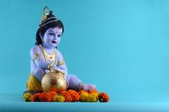 Dios hindú Krishna Fotos de archivo libres de regalías