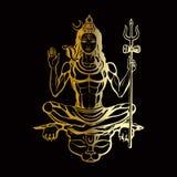 Dios hindú Shiva stock de ilustración