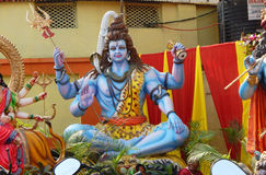 Dios hindú Shiva Imágenes de archivo libres de regalías