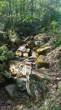 Dios hizo la colina de la roca foto de archivo