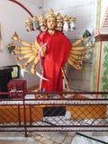 Dios indio en templo en el uttrakhnad DEHRA DUN LA INDIA Fotografía de archivo
