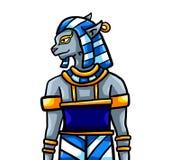 Dios masculino del egipcio de Bastet libre illustration