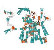 Dios maya de la lluvia Tlaloc stock de ilustración