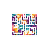 dios todopoderoso Alá de la caligrafía árabe del Islam la mayoría de la fe graciosa de los musulmanes del tema libre illustration