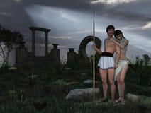 Dios y diosa Grecian stock de ilustración