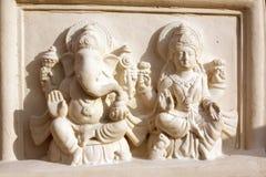 Dios y diosa hindúes Fotografía de archivo