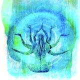 Diosa de la yoga stock de ilustración