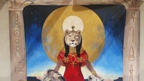 Diosa de Sekhmet imagen de archivo