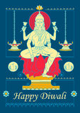 Diosa Lakshmi para el rezo de Diwali